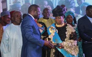 Innocence Ntap Ndiaye, la présidente du HCDS, honorée