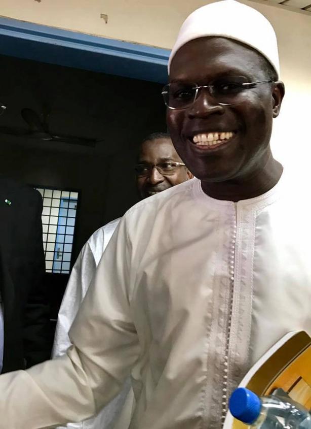 Le maire de Dakar Khalifa Sall lors de son audition sur le fond par le doyen des juges
