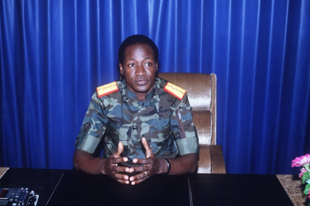 Blaise Compaoré, quatre jours après la mort de Thomas Sankara. © AFP