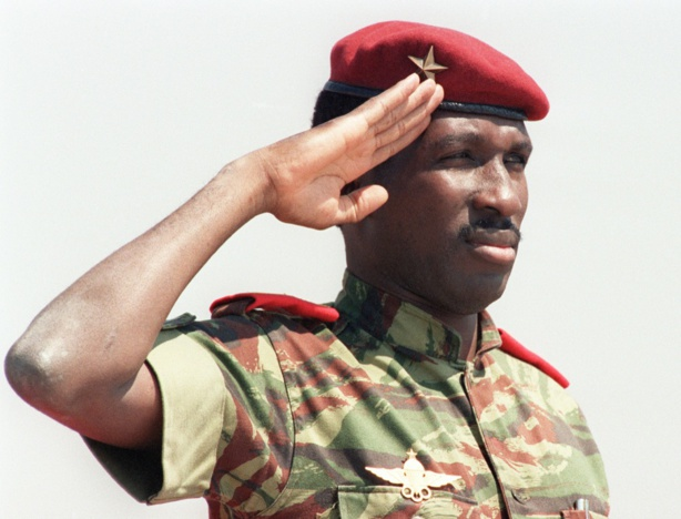 Le capitaine Thomas Sankara le 31 août 1996. © Alexander Joe / AFP