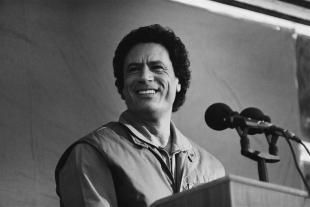 Le colonel Kadhafi. © John Downing / Getty Images