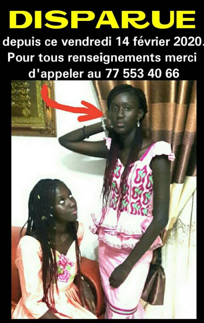 Disparition: la fille de Mame Matar Guèye retrouvée à Yoff