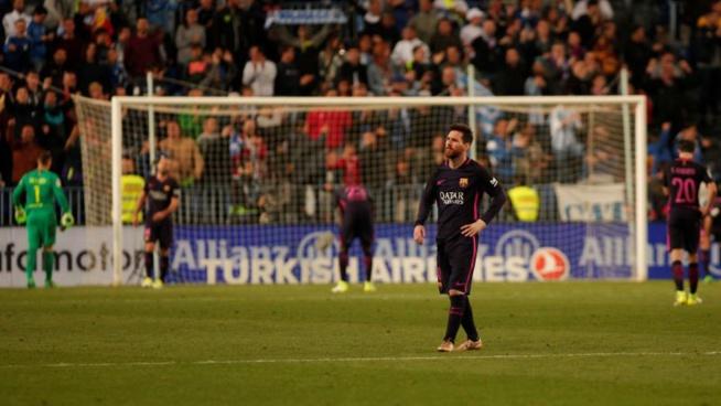 Battu à Malaga, le Barça réduit ses chances de remporter la Liga