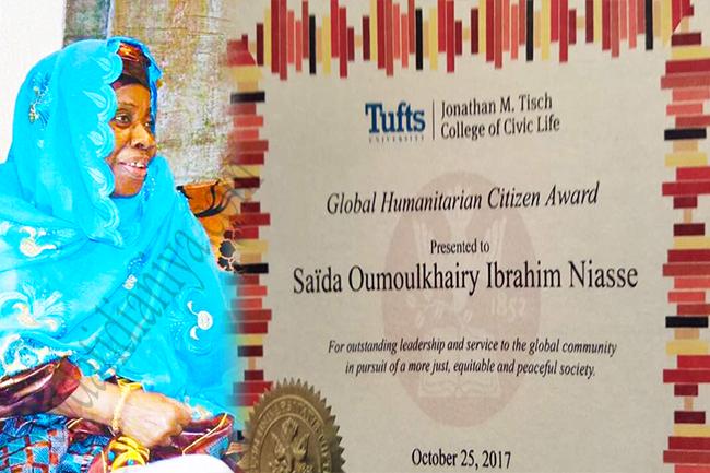 """Université Tufts de Boston : Zeyda Oumoul Khairy Niasse lauréate du Grand Prix """"Global Humanitaire Citoyen"""""""