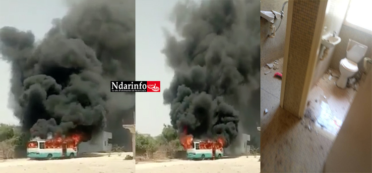 UGB : Un bus de l'OLAC brûlé, la maison de Mary Teuw NIANE saccagée