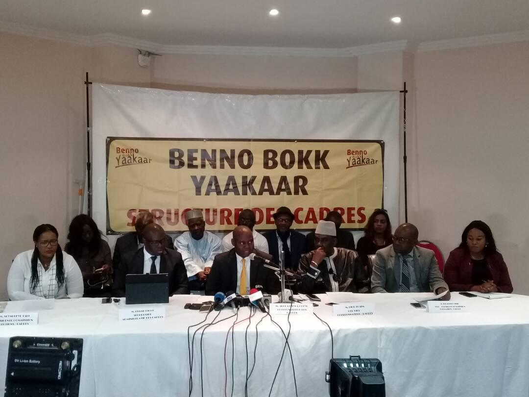 Les cadres de Bennoo dénoncent la mauvaise foi suspicieuse de l'opposition