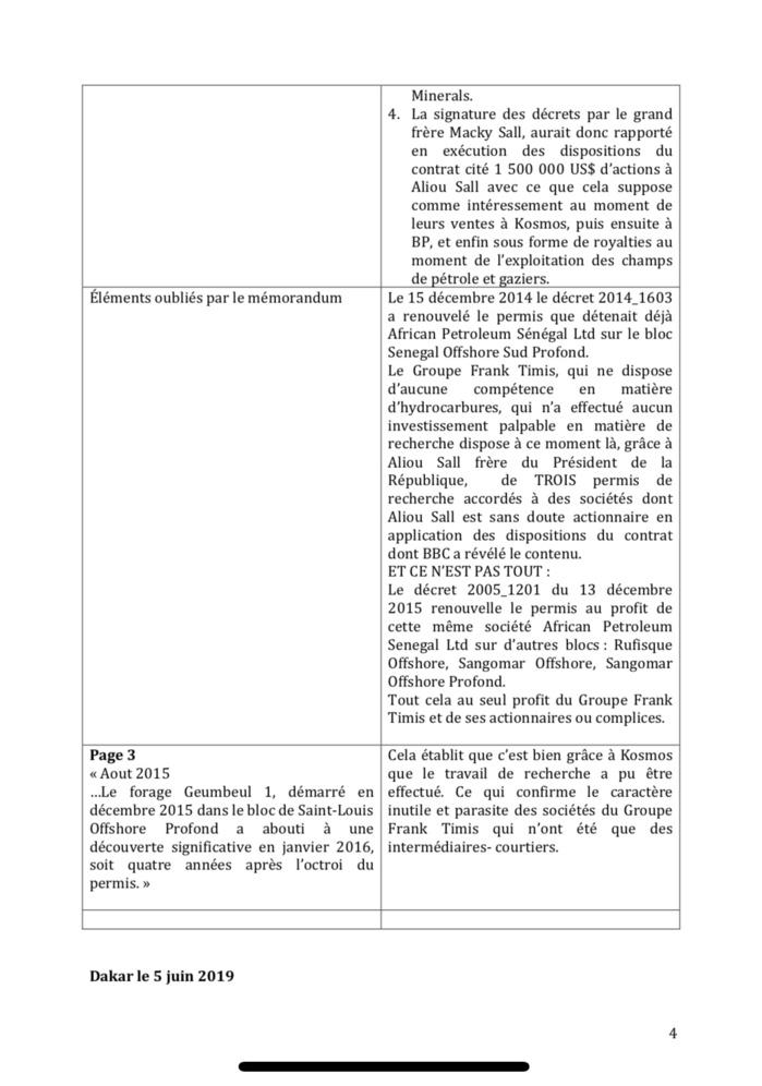 Affaire Aliou Sall : Les cadres de l'ACT démontent le mémorandum du gouvernement