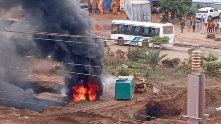 Incendie au bassin de rétention de Dalifort-foirail