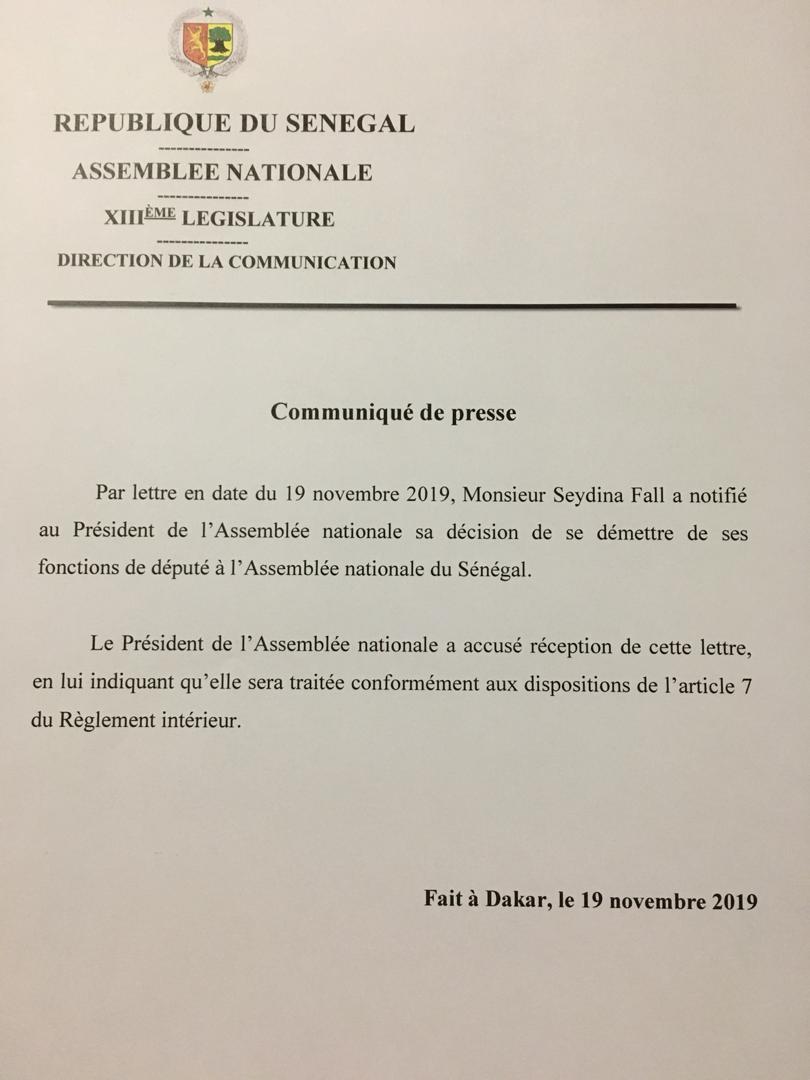 Assemblée nationale : Moustapha Niasse annonce la démission officielle de Boughazelli