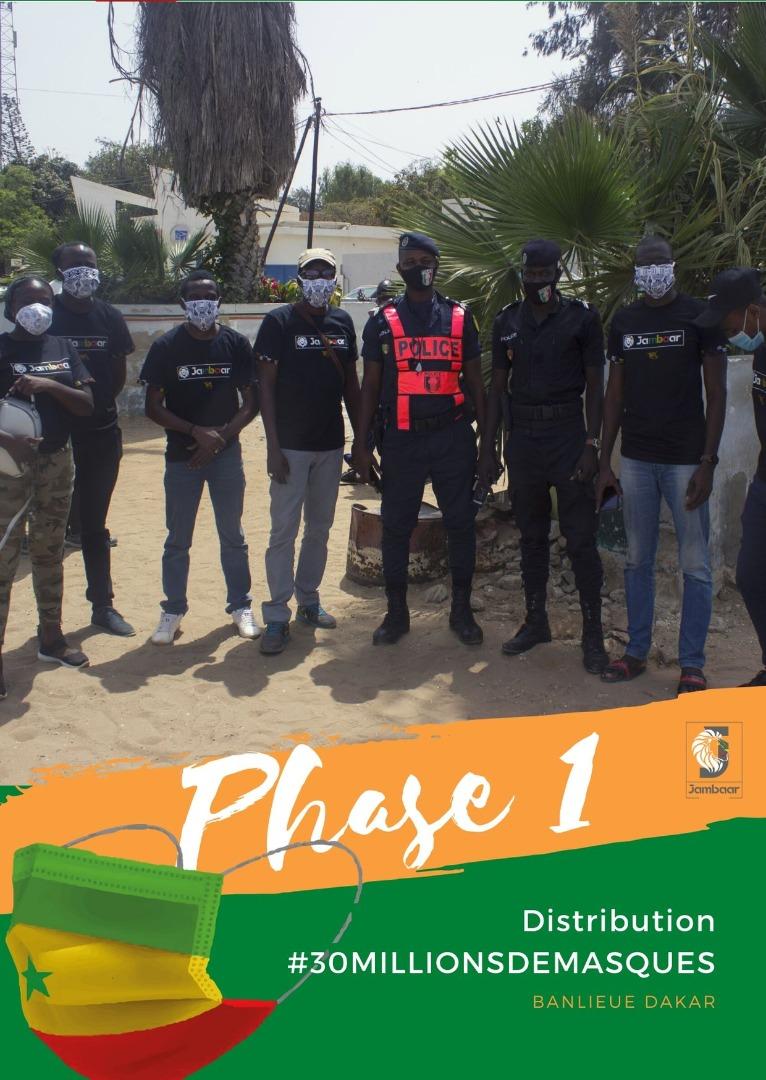 Projet Jambaar : Phase 1 Distribution projet 30 millions de masques