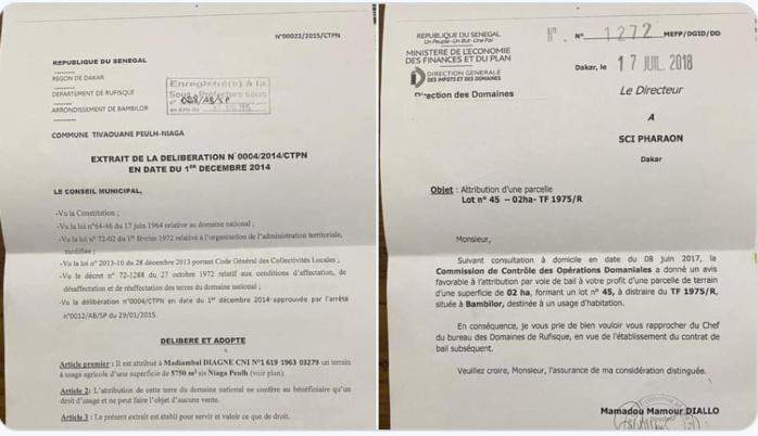 Attribution de deux terrains à Niaga Peulh et à Bambilor à Madiambal Diagne : les précisions non convaincantes du journaliste