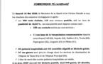 Covid-19 : samedi 16 mai : 116 cas de contamination, 59 patients guéris