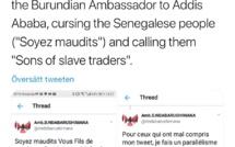 Un ambassadeur burundais insulte les Sénégalais sur Twitter